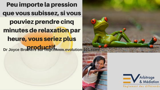 Infusion, détente, relaxation, grenouille