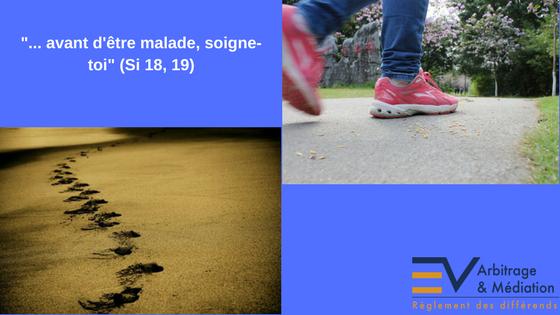 Marche, Empreintes sur le sable, Versets bibliques