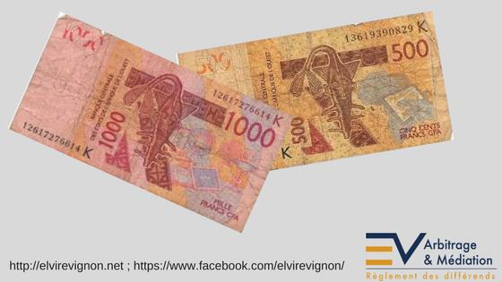 Monnaie, XOF, FCFA