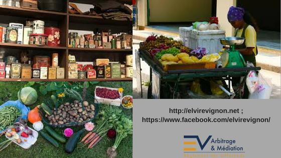 Épicerie, Fruits et légumes, Commerce ambulant