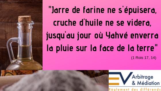 Foi et providence (1 Rois 17, 1-16) – Gérez efficacement vos conflits – Me  Elvire VIGNON